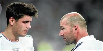 Morata y Zidane.