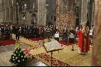 El arzobispo de Santiago, durante la Ofrenda al Apóstol