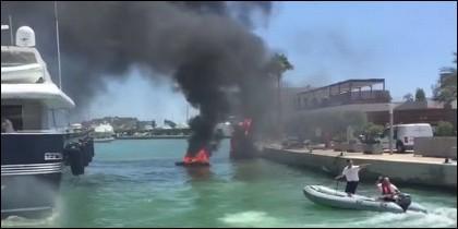 Incendio en el Puerto de Ibiza