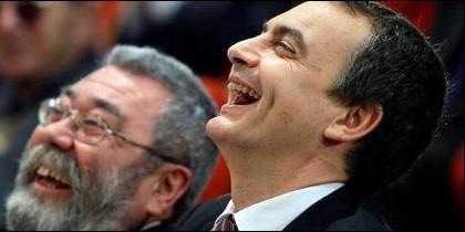 Cándido Méndez con Rodríguez Zapatero.