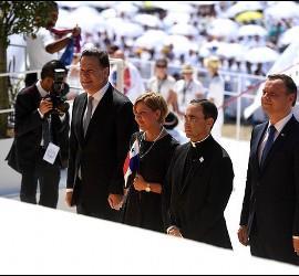 La comitiva oficial del Gobierno de Panamá