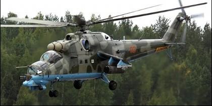 un helicóptero ruso MI-8.