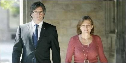 Puigdemont con Forcadell.