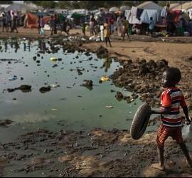 Un niño de Sudán del Sur