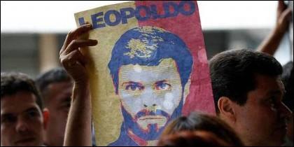 Leopoldo López, político opositor preso en la Venezuela chavista.