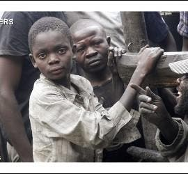 NIños y soldados en el Congo