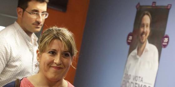 La secretaria general de Podemos Galicia, Carmen Santos.