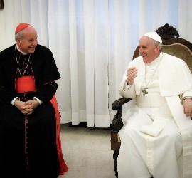 Schonborn, con el Papa Francisco
