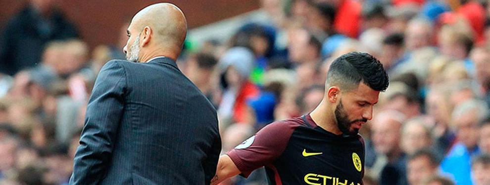 A pesar de sus goles, Guardiola está muy molesto con actitudes de Agüero