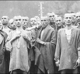 Presos en Auschwitz-Birkenau; Bergen-Belsen, Mauthausey otros campos de exterminio nazis.