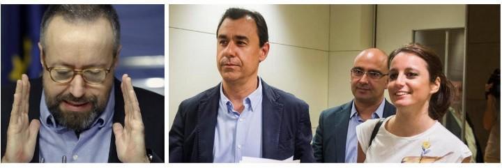 Juan Carlos Girauta, Fernando Martínez Maíllo y Andrea Levy.