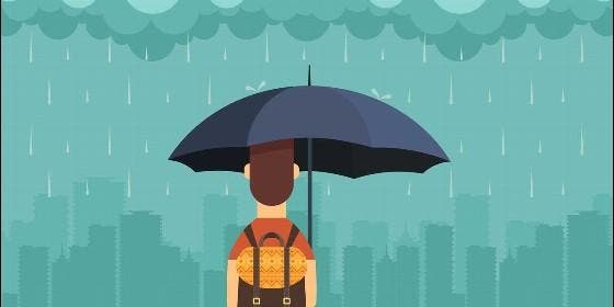 Clima, lluvia, tiempo, lengua, enseñanza, escuela e idioma.