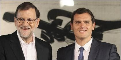 Rajoy (PP) con Rivera (CIUDADANOS).