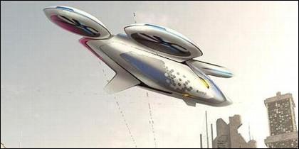 Un boceto del CitiAirbus, el taxi volador diseñado por Airbus.