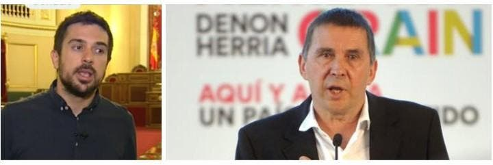 Ramón Espinar y Arnaldo Otegi.