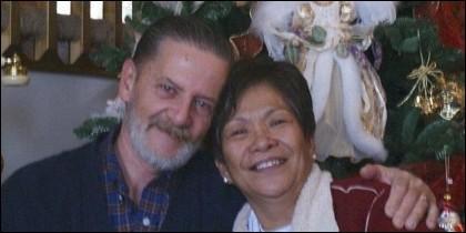 Lawrence Ripple y su esposa Remedios.