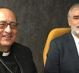 Omella, junto al rector de Comillas