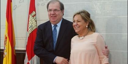 Juan Vicente Herrera junto a la exvicepresidenta Rosa Valdeón