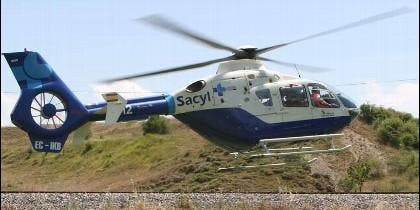 Uno de los helicópteros adheridos al servicio de transporte sanitario en Castilla y León