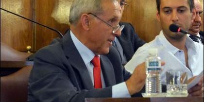 Ángel Prada en la bancada popular durante un pleno en la Diputación de Zamora