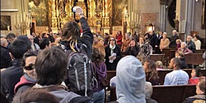 Abortistas en la iglesia de sant Miquel