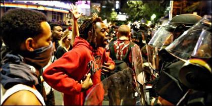 Protestas raciales y antipoliciales en Charlotte (EEUU).