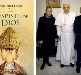Diego Neria y Macarena, con el Papa