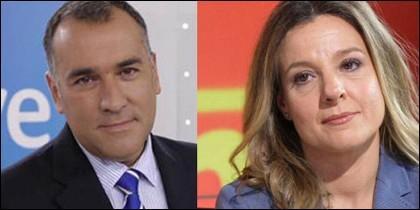 Xabier Fortes y Susana Burgos.
