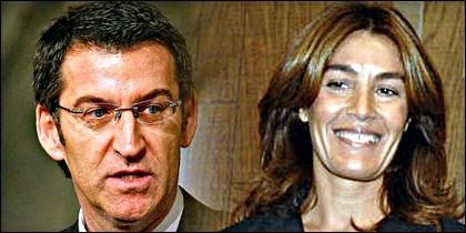 Alberto Núñez Feijóo y Eva María Cárdenas.