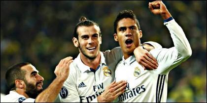 Carvajal, Bale y Varane.