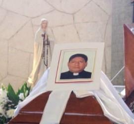 Funeral del sacerdote asesinado en Poza Rica, Alejo Nabor Jiménez Juárez