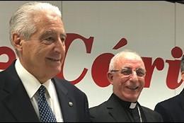 Rafael del Río, Atilano Rodríguez y Sebastián Mora presentaron la Memoria de Cáritas