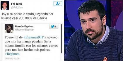 Ramón Espinar y el tuit que le avergüenza.