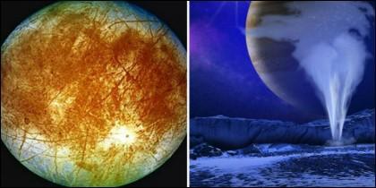 Agua en la luna Europa