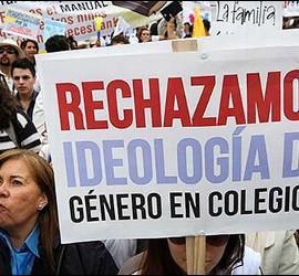 Manifestantes mexicanos protestan contra la 'ideología de género'
