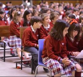 Alumnos del colegio Juan Pablo II de Alcorcón
