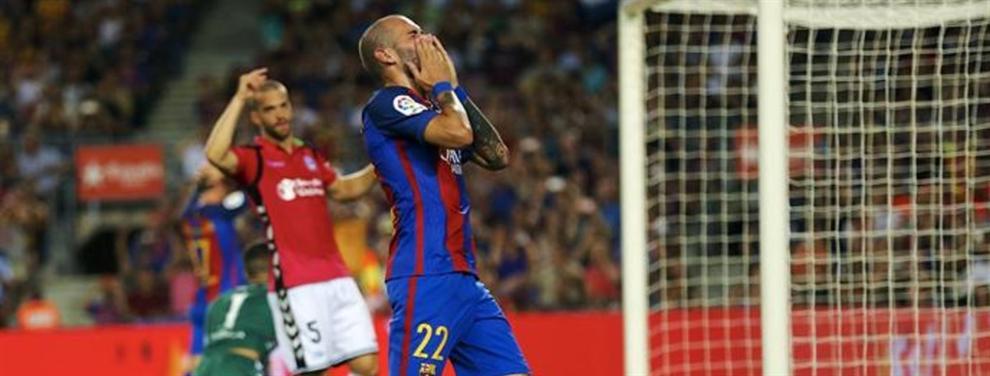 Aleix Vidal corre el peligro de contar menos que Douglas para Luis Enrique