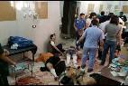 Imagen de uno de los hospitales tras el bombardeo