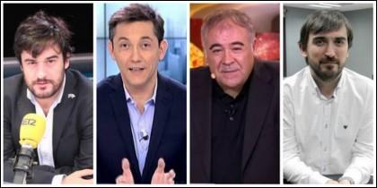 Jabois, Javier Ruiz, Antonio García Ferreras e Ignacio Escolar.