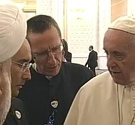 El Papa, con el jeque del Cáucaso
