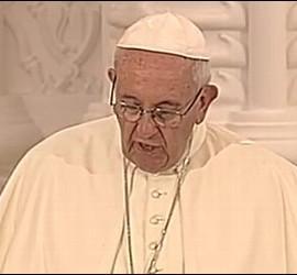 El Papa, durante su discurso