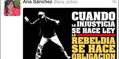 Tuit de la secretaria de Organización del Partido Socialista de Castilla y León, Ana Sánchez ABC