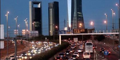 Atasco en Madrid