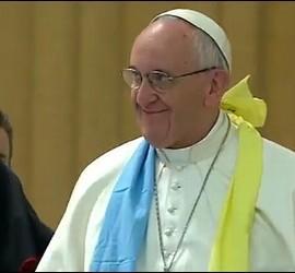 Papa, con luteranos alemanes