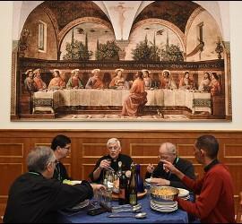Sosa, almorzando en la Curia jesuita