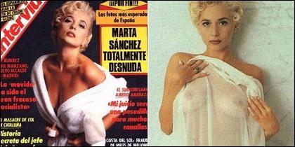 Marta Sánchez, dando el do de pecho.