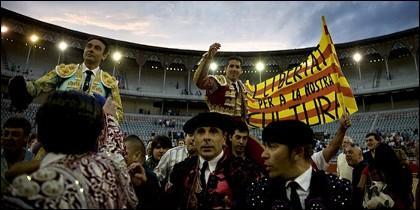 Corrida en la Monumental de Barcelona.