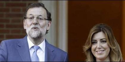 Mariano Rajoy (PP) con Susana Díuaz (PSOE).