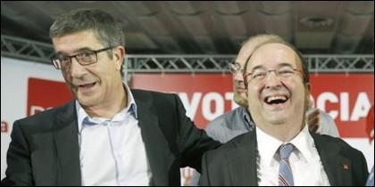 Patxi López (PSOE) y Miquel Iceta (PSC).