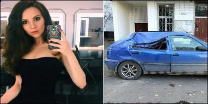Marina Lebedeva y el coche